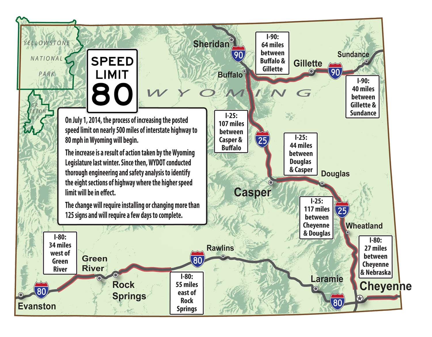 80 mph speed limit coming to more than half of Wyoming\'s interstate ...