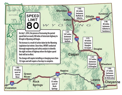 80 mph speed limit map